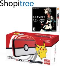 New 2DS XL Console Pokeball Edition + 3DS Bravely Second: End Layer