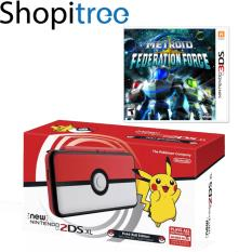 New 2DS XL Console Pokeball Edition + 3DS Metriod Prime: Federation Force