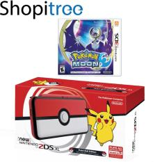New 2DS XL Console Pokeball Edition + 3DS Pokemon Moon