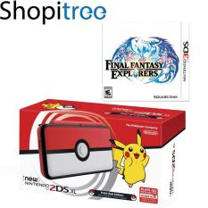 New 2DS XL Console Pokeball Edition + 3DS Final Fantasy Explorers