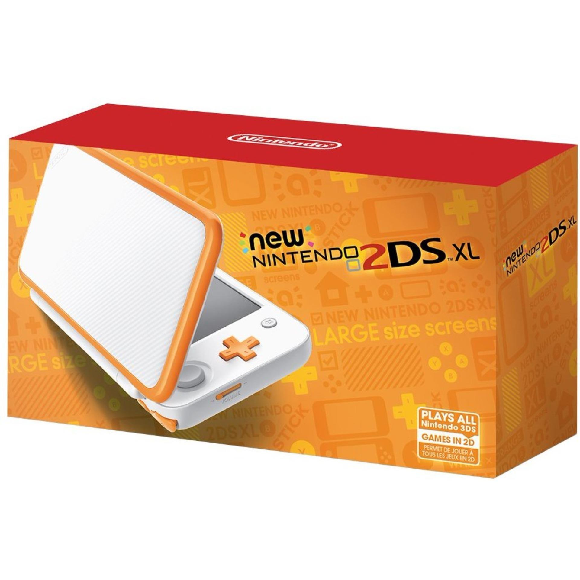 New 2dsxl (White X Orange)