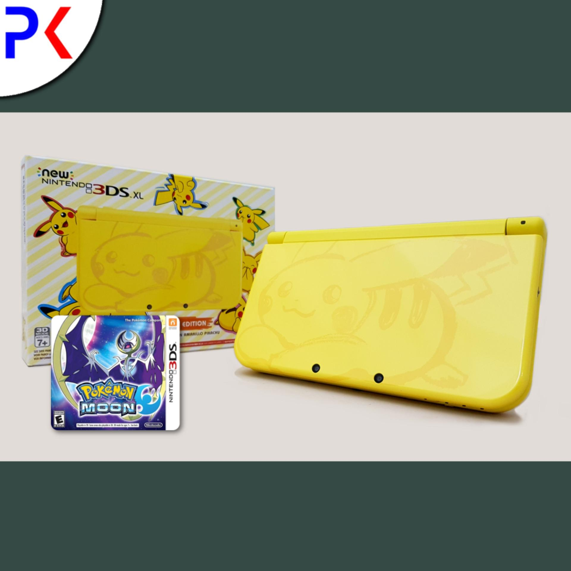 New 3DS XL – Pikachu Yellow Edition + 3DS Pokemon Moon