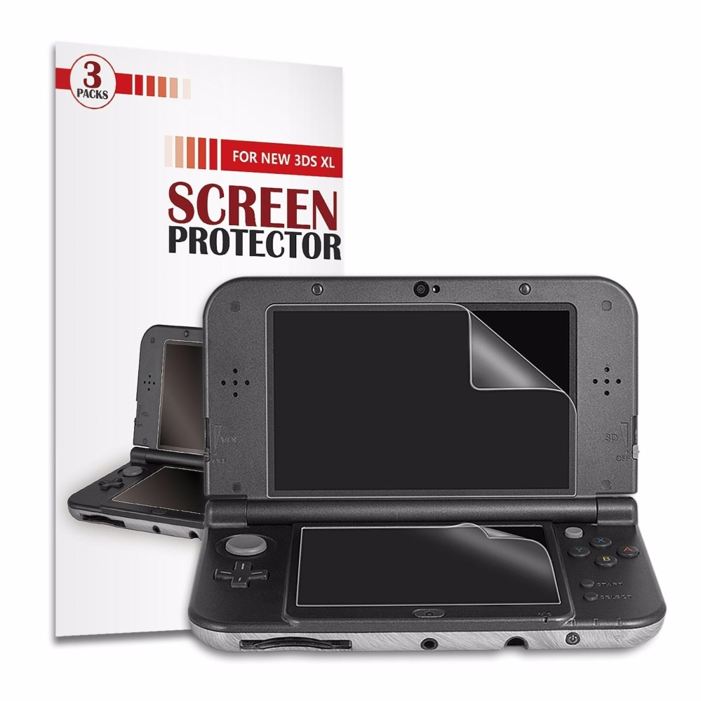 [3 Packs] Younik 0.125mm/4H Ultra Clear HD Screen Protective Film Nintendo New 3DS XL Screen Protector- intl