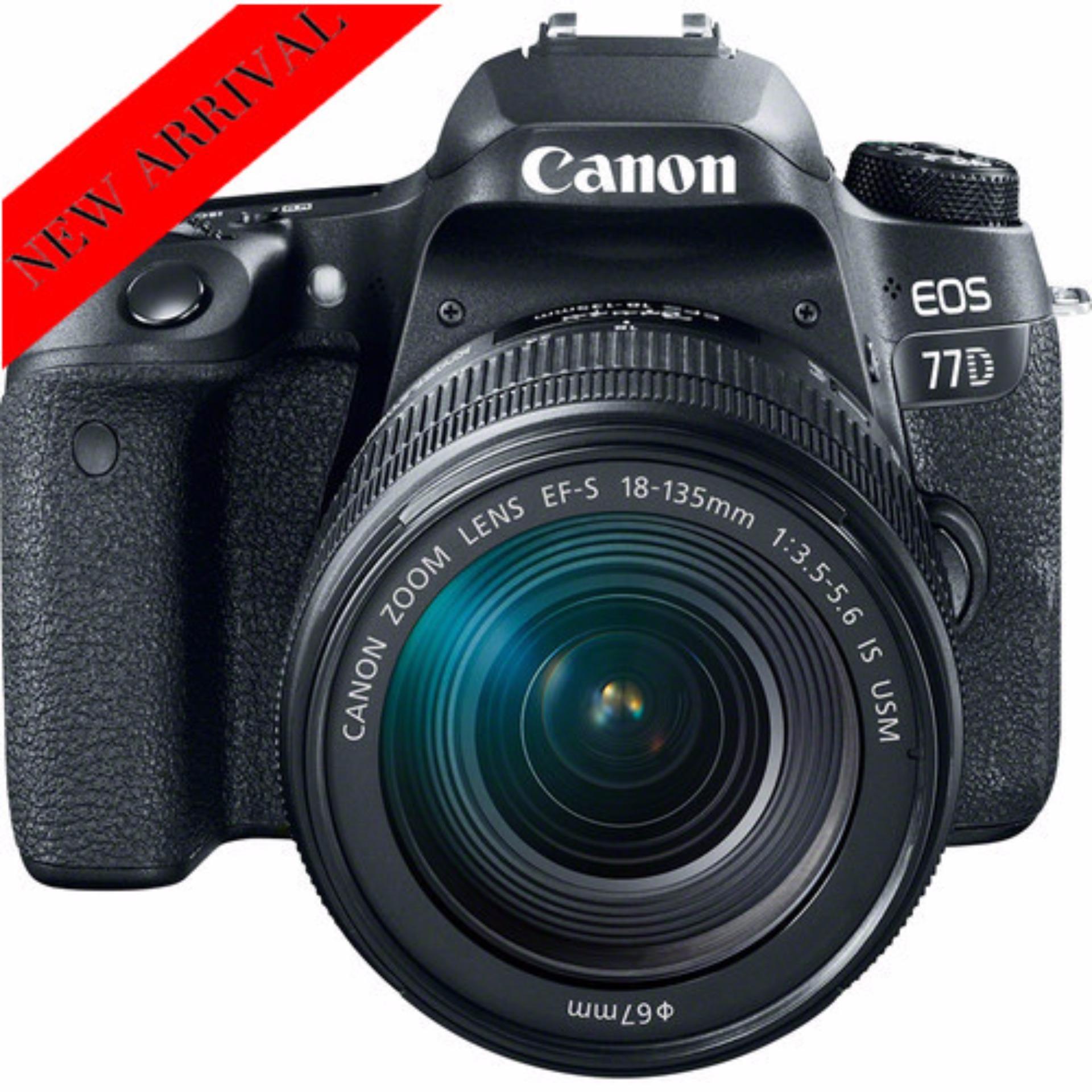 [NEW MODEL] Canon EOS 77D + EF-S 18-135mm IS USM Lens(Black)