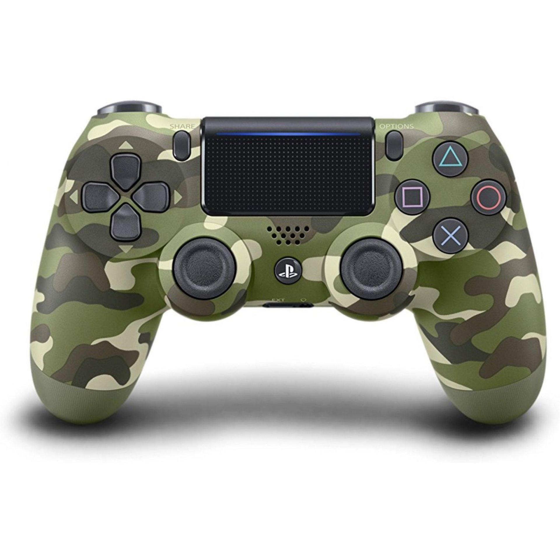 New PS4 Dual Shock 4 Wireless Controller Green Camouflage
