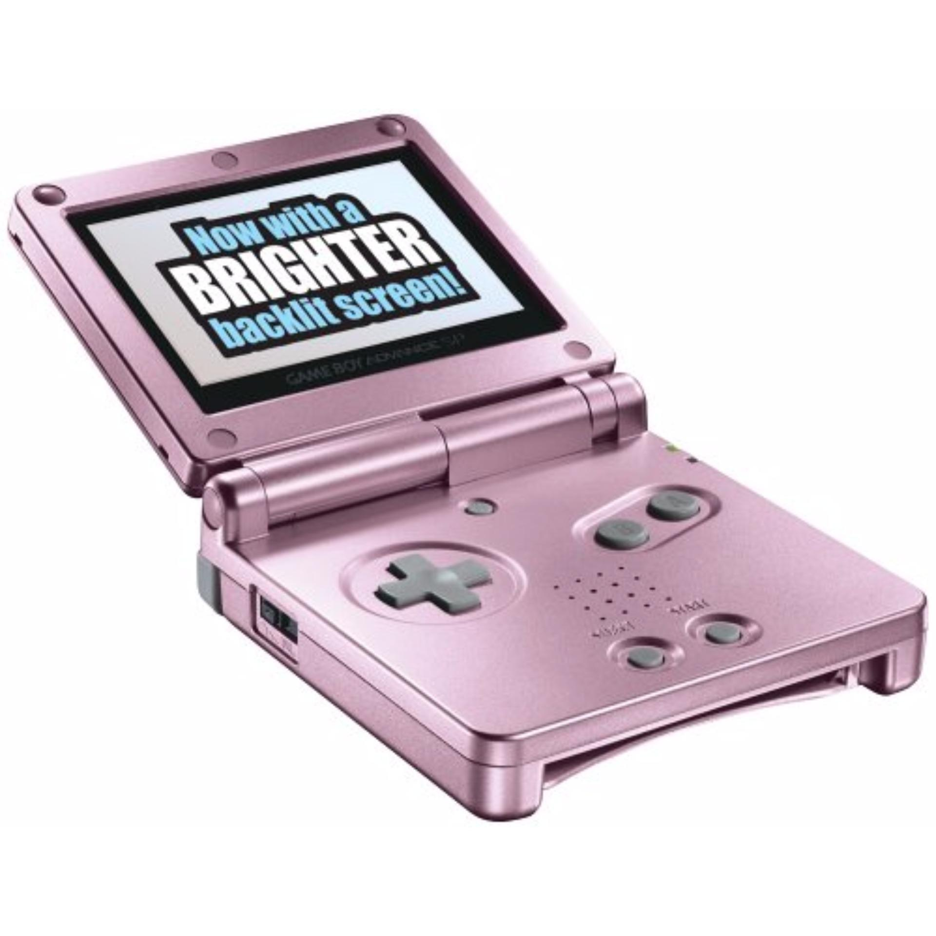 Nintendo Gameboy Advance SP with Brighter Backlit AGS – 101 Screen Pink (Brand New)