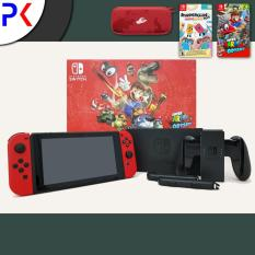 Nintendo Switch Mario Odyssey Console BUNDLE (EXPORT) + Case + Snipperclips Plus