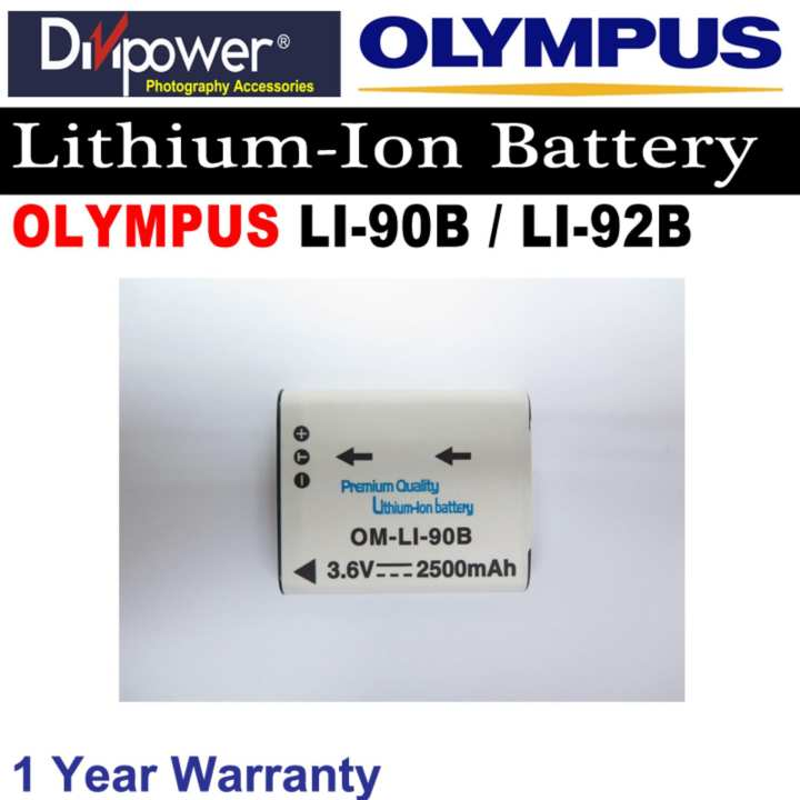 Olympus LI-90B / LI-92B Lithium-ion Battery for Olympus Camera by Divipower