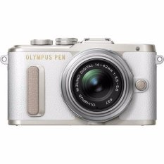 Olympus PEN E-PL8 Mirrorless Micro Four Thirds Digital Camera with 14-42mm Lens (White) with Olympus 40-150mm F4.0-5.6 R Lens silver (Warranty)