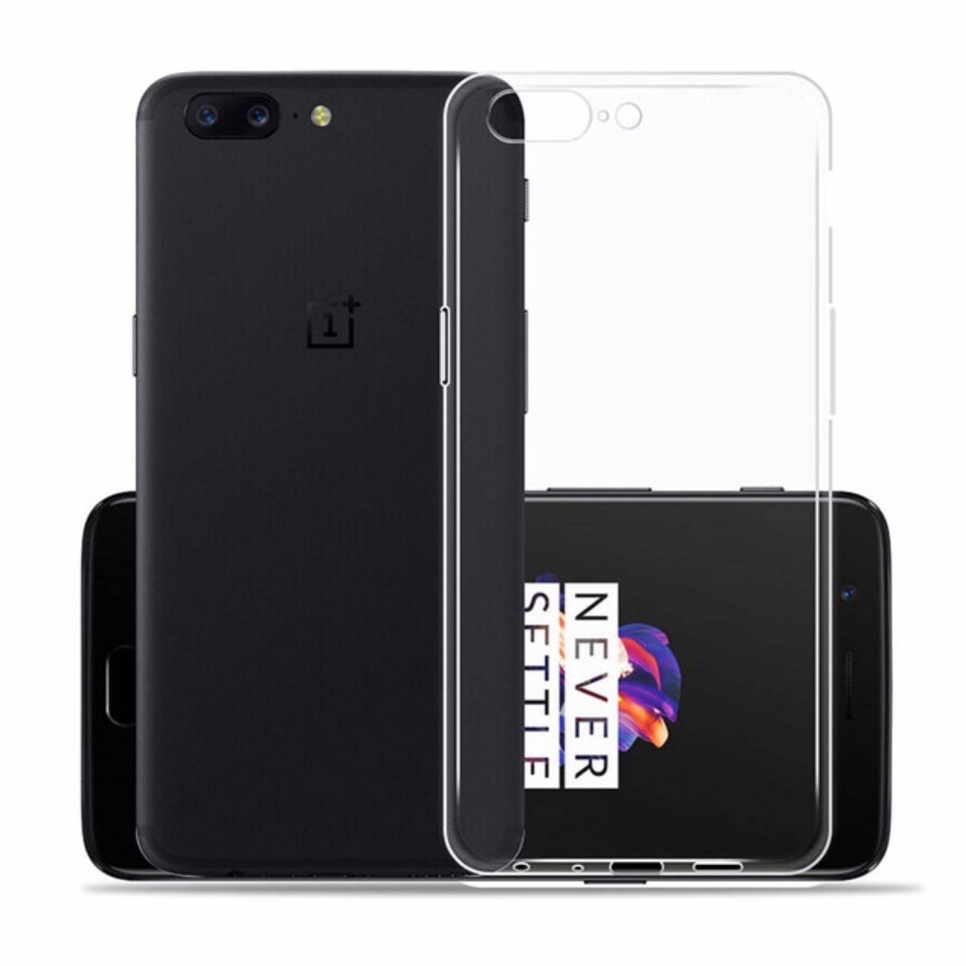OnePlus 5 Ultra Thin Transparent Clear Crystal Clear TPU Silicone Case Casing Cover