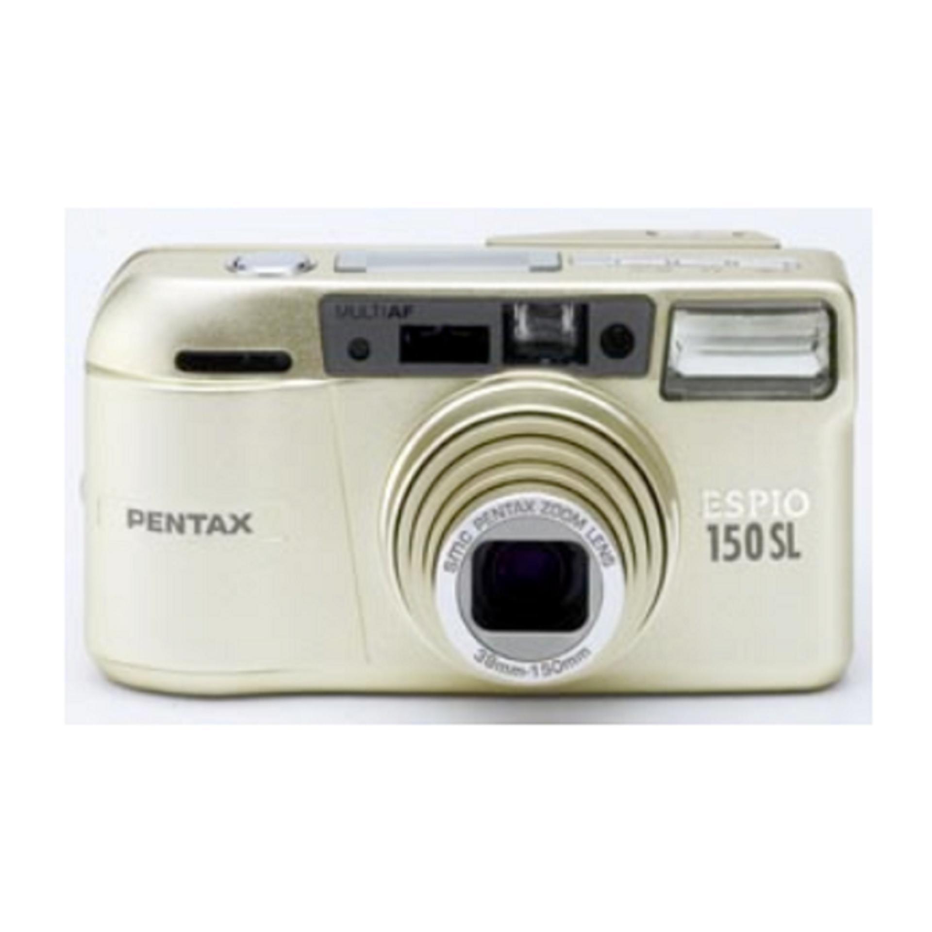 Pentax Espio 150SL Point & Shoot Film Camera Gold + Free Kodak Gold 200/36 Film