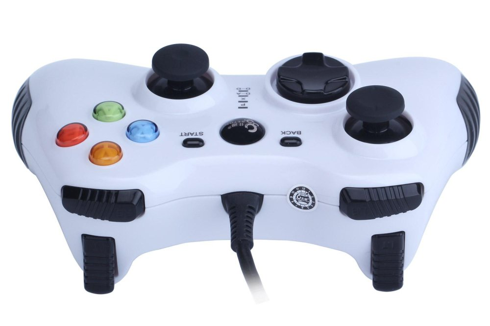 powercreat Wired Game Controller for PC(Windows XP/7/8/10) Android Devices (White) - intl