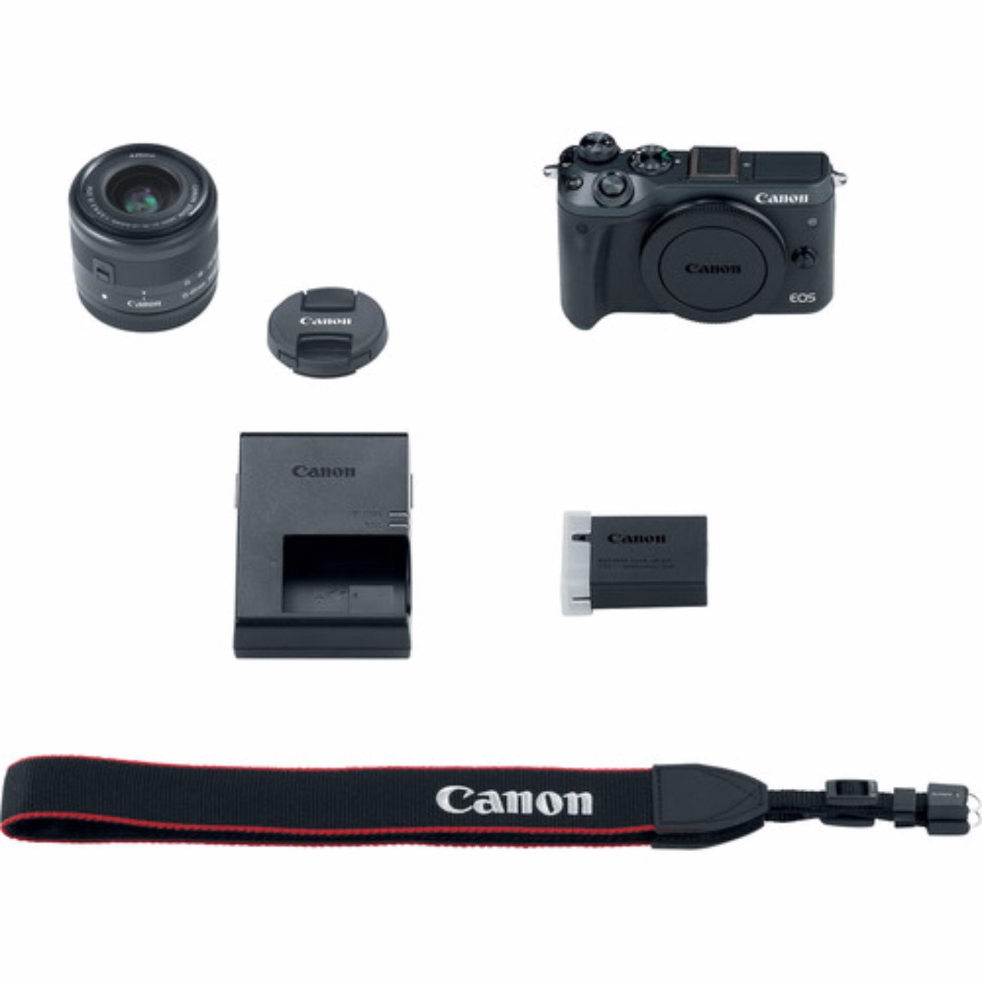 Canon EOS M6 15-45mm Kit (Black) (FREE 16GB SD Card)
