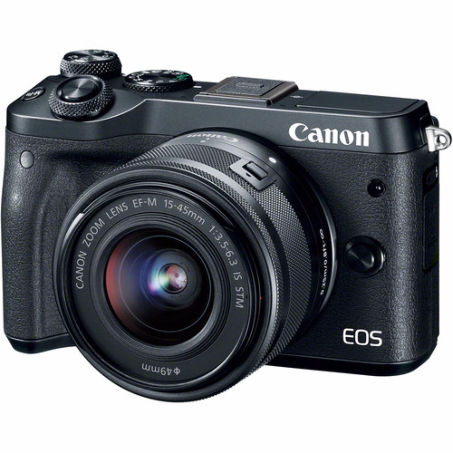 Canon EOS M6 15-45mm Kit (Black) (FREE 16GB SD Card)