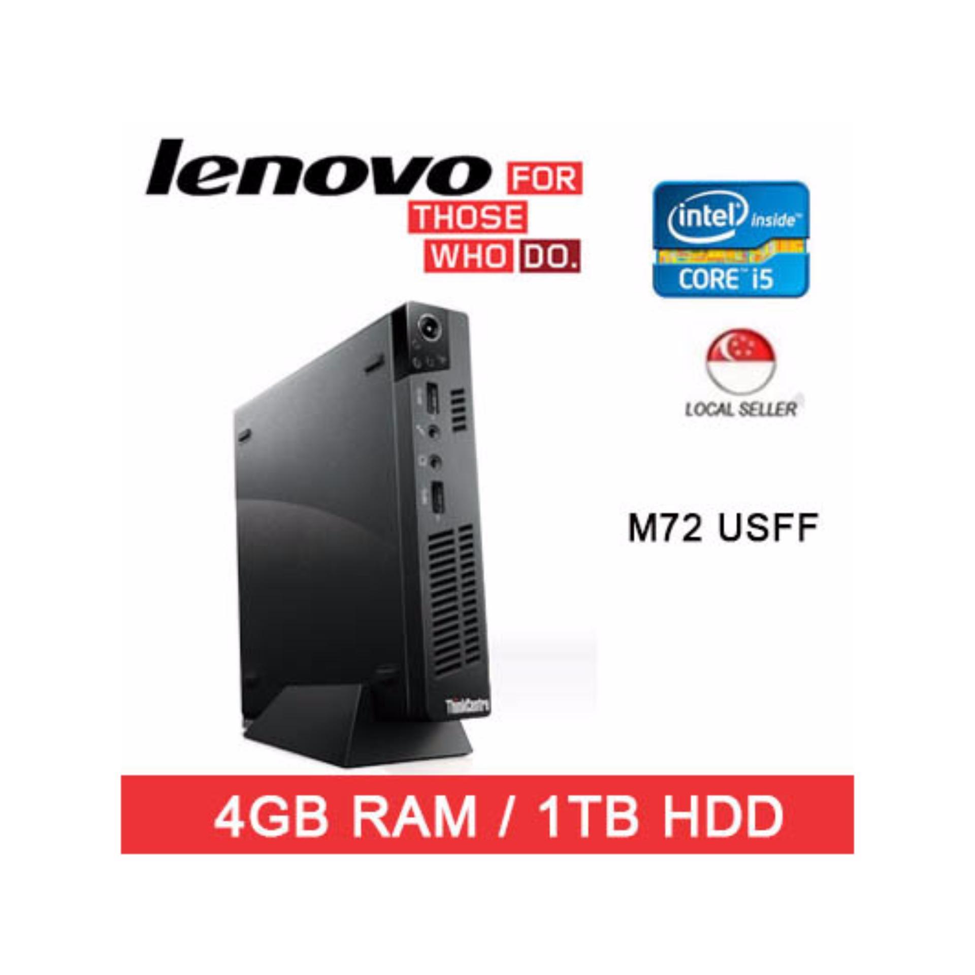 Refurbishd Lenovo M72 USFF Desktop / Intel I5 / 4GB RAM / 1TB HDD / One Month Warranty