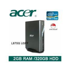 Refurbished Acer Veriton L670G USFF Desktop / Core 2 Duo / 2GB RAM / 320GB HDD / Win Vista / 1 Month Warranty