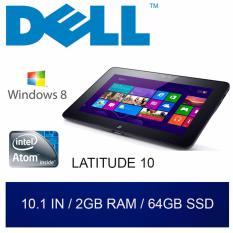 Refurbished Dell Latitude 10 Tablet / 10.1in / Atom / 2GB RAM / 64GB HDD / W8 / 1mth Warranty