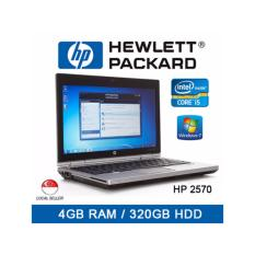 Refurbished HP 2570P Laptop / 12.5 Inch / Intel I5 / 4GB RAM / 320GB HDD / Window 7 / 1 Mth Warranty