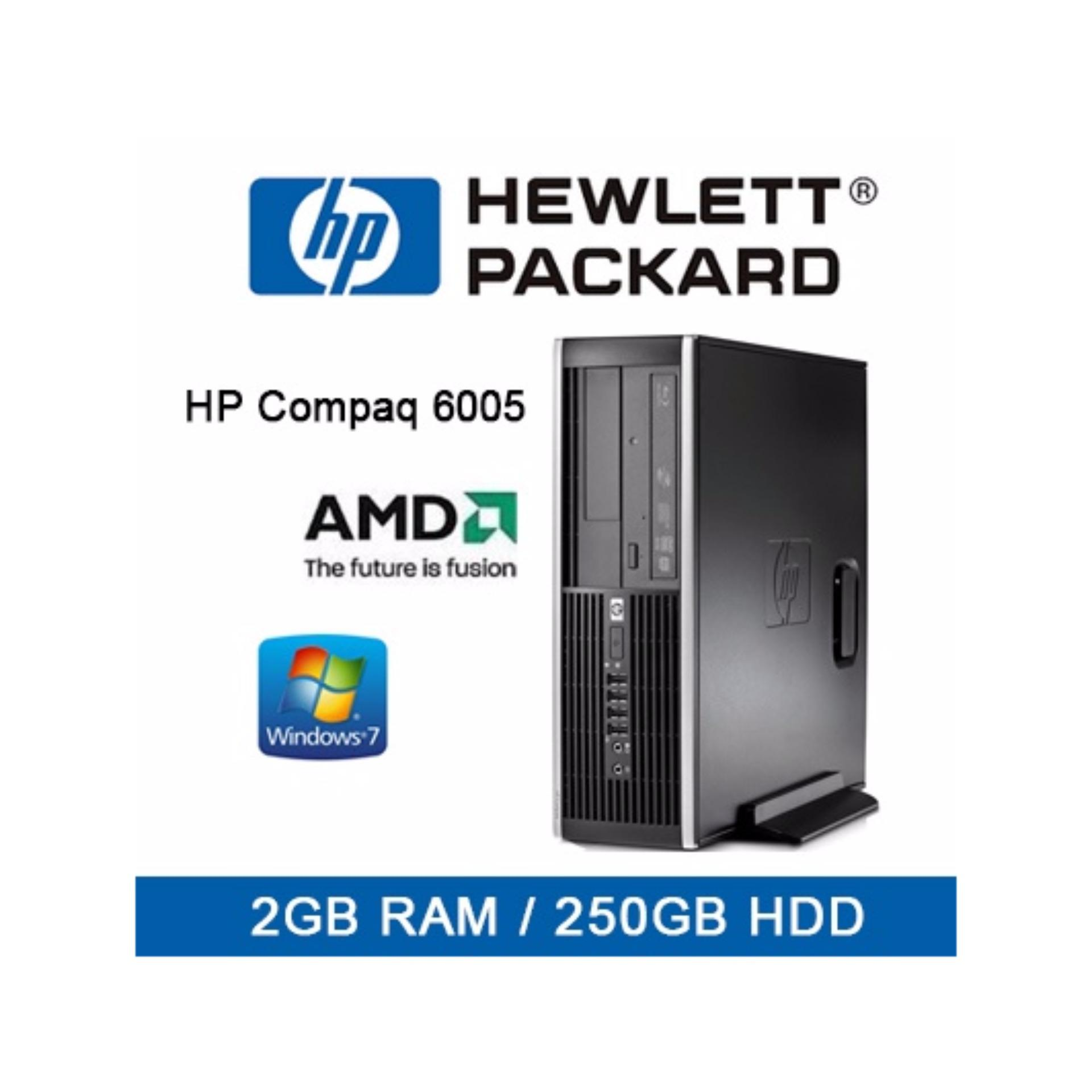[Refurbished] HP Compaq 6005 pro SFF Desktop / AMD-B26 / 2GB RAM / 250GB HDD / Win 7 / 1mth Warranty