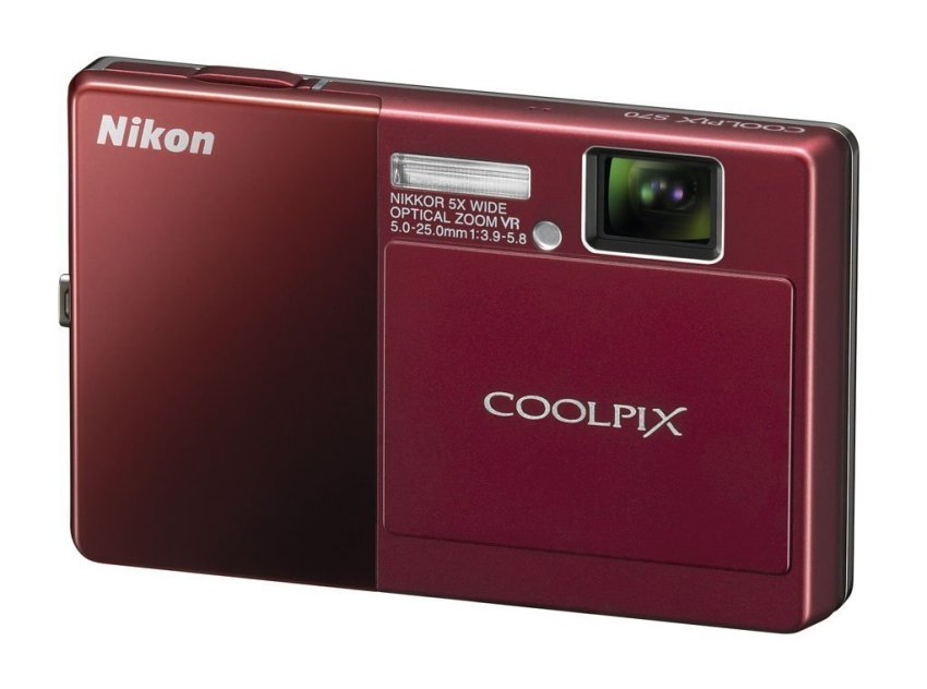 (Refurbished) Nikon Coolpix S70 12.1 Megapixel 5x Optical Zoom Digital Camera (Red).