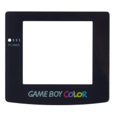 Replacement Parts Clear Screen Plastic for Nintendo GameBoy Color Black