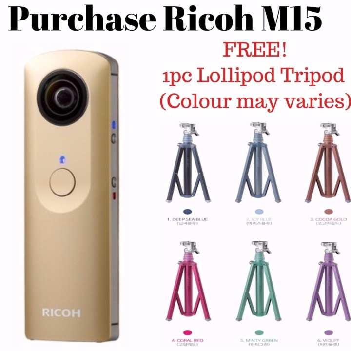 Ricoh Theta M15 Gold Limited Edition(Gold) Free 1pc Lollipod Tripod
