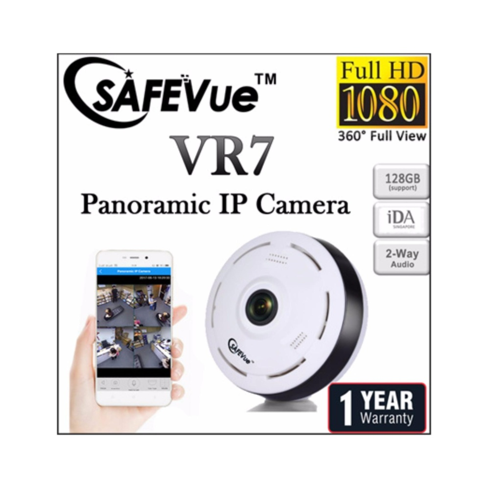 SAFEVue Panoramic IP Camera VR7 Brand of Singapore Night Vision 360° Full View 1 Yr Warranty