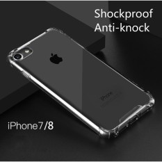 Shockproof Auti-knock Soft Silicone iPhone 7 iPhone 8 Cover Casing Non Slip Premium Quality