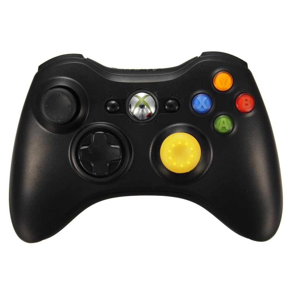 Silicone Analog Controller Thumb Stick Grips Caps Covers thumbstick grips for Xbox360/Xbox One/PS3/PS4 Controller Yellow - intl