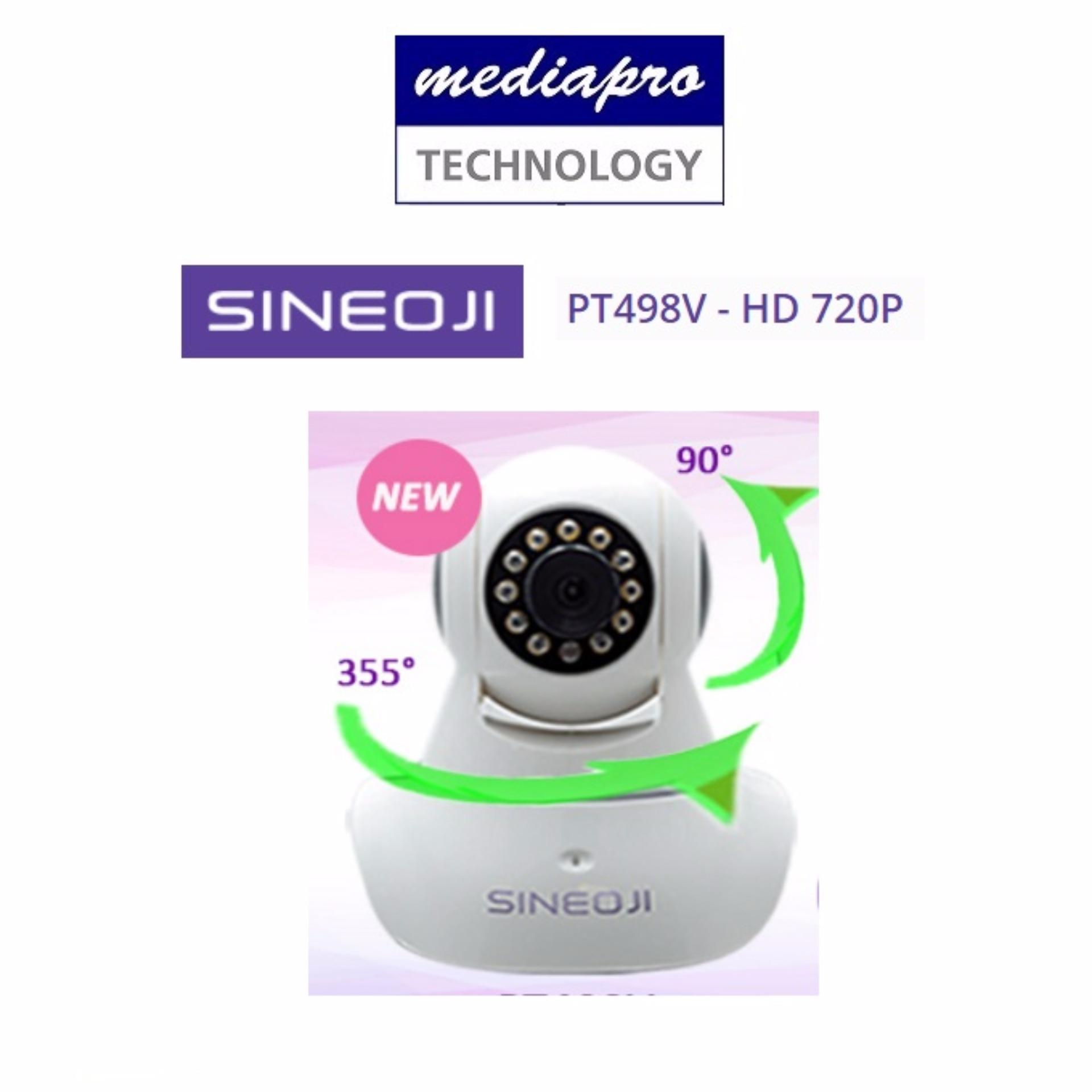 Sineoji PT498V - HD 720P HD Wireless Pan & Tilt IP Camera with SD Card Slot