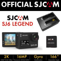 SJCAM SJ6 LEGEND Dual Screen Action Camera (Black) BUNDLE