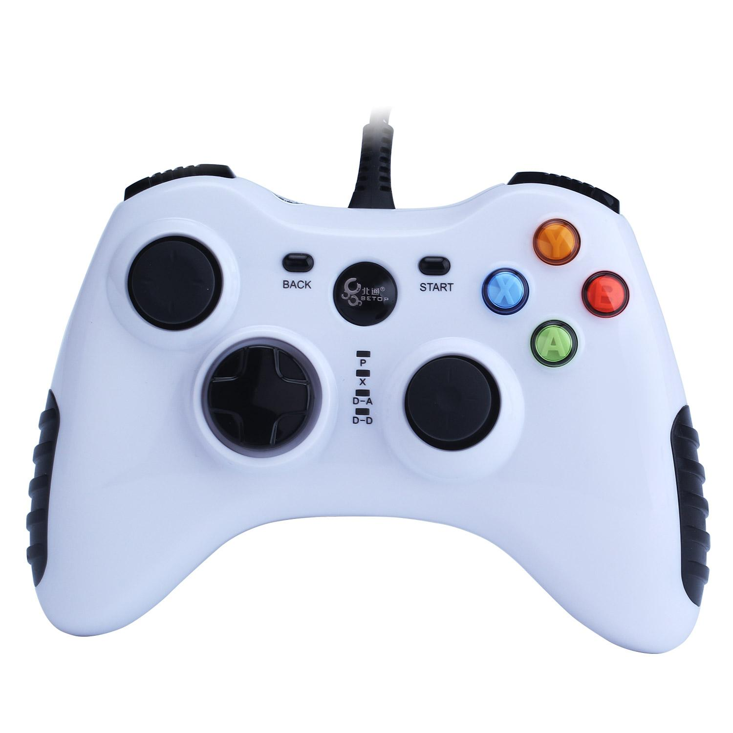 SOBUY Wired Game Controller for PC(Windows XP/7/8/10) Android Devices (White)