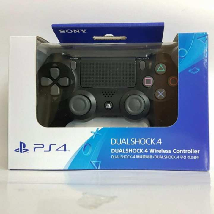SONY Playstation 4 (PS4) DualShock 4 Wireless Controller (Black)(Black)