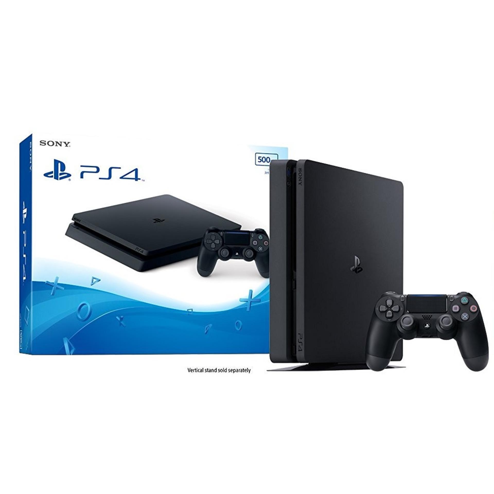 Sony PS4 Playstation 4 Slim Console 500GB (Black)