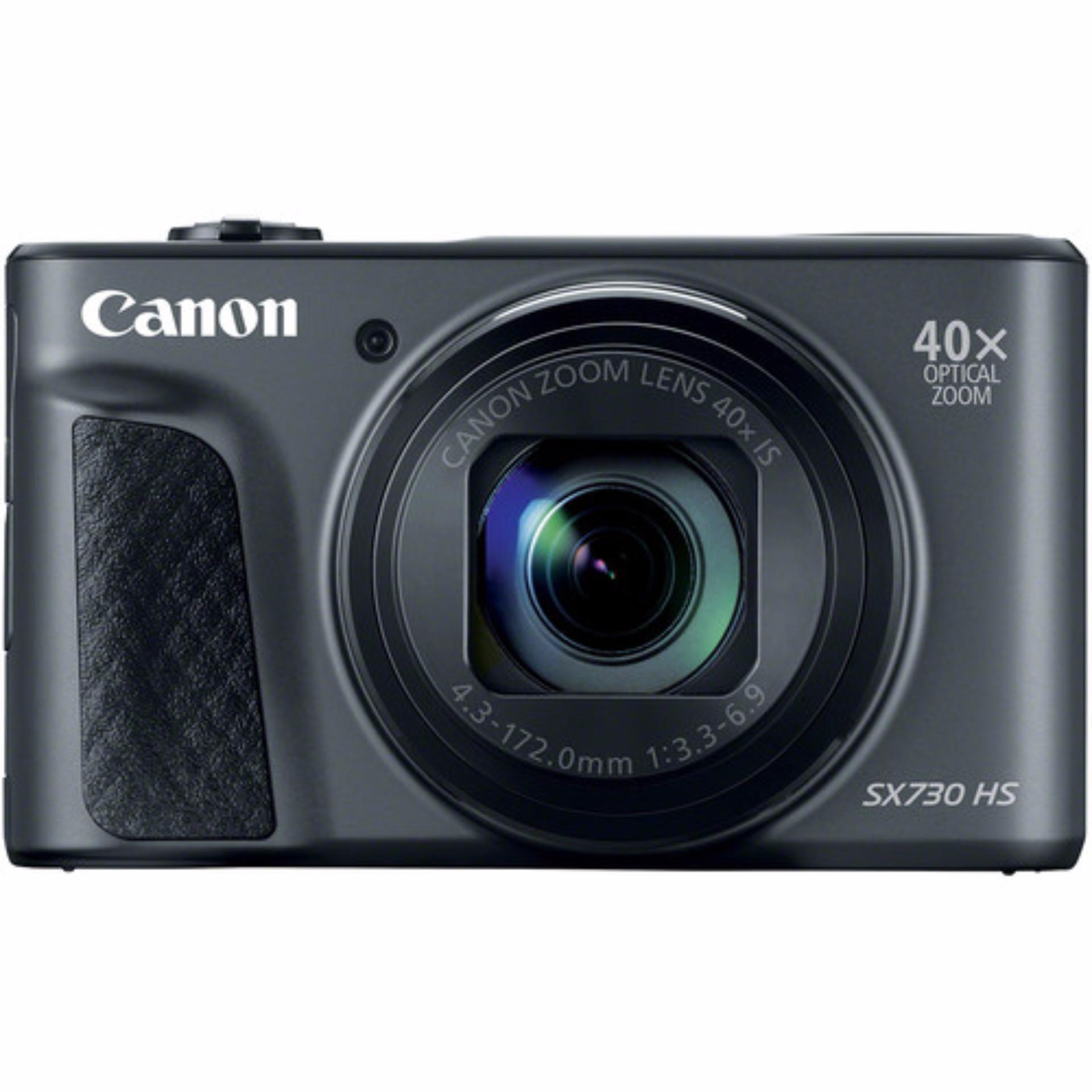 (Special Price) Canon Powershot SX730HS Digital Camera (Black) (2 x 16GB SD Card, 1 x Screen Protector)