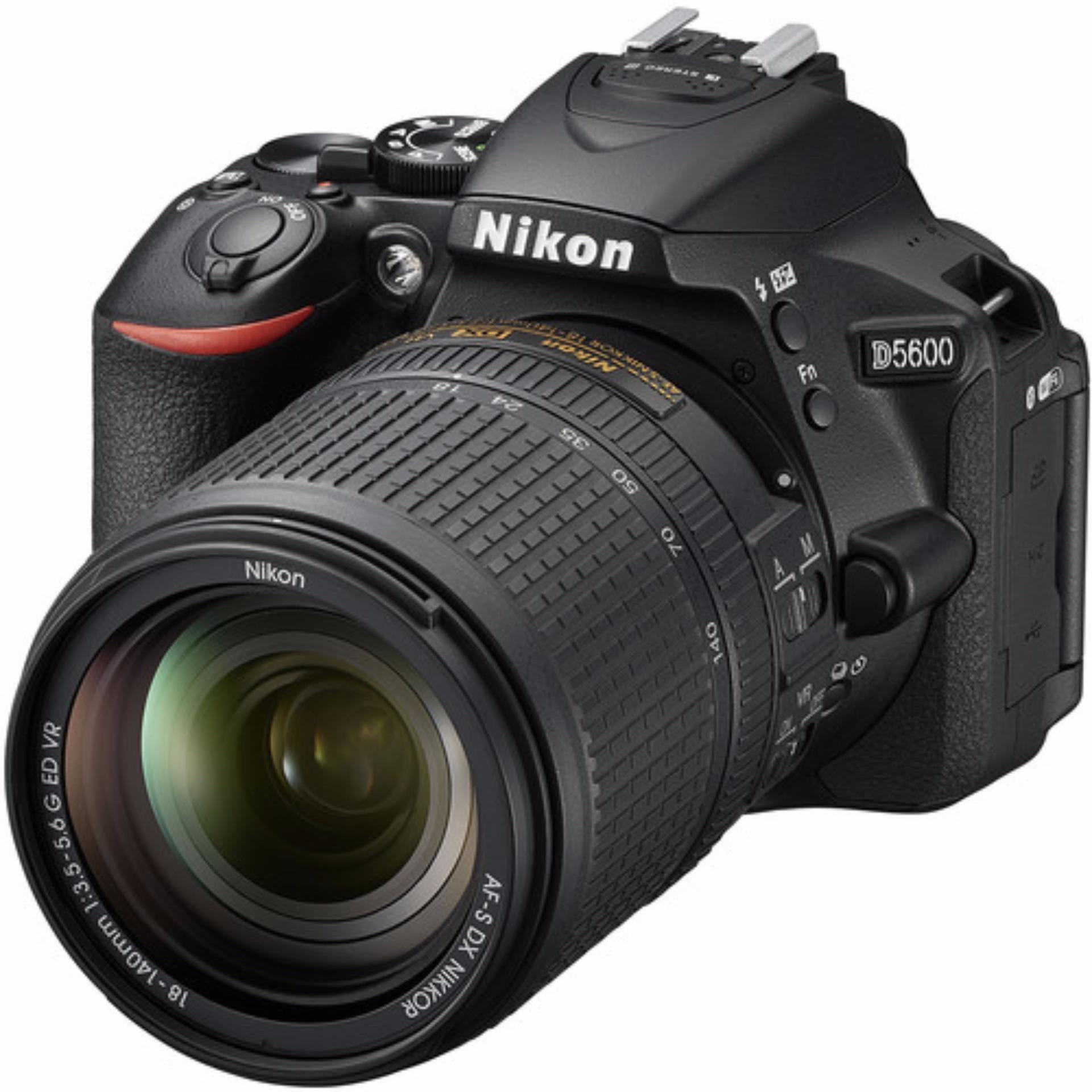(Special Price) Nikon D5600 Kit (AF-S DX Nikkor 18-140mm F3.5-5.6G ED VR) (2 x 16GB SD Card, 1 x Bag)