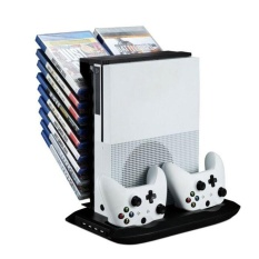 Stand Holder Cooling Fan Charging Station Storage For XBOX ONE S Black – intl
