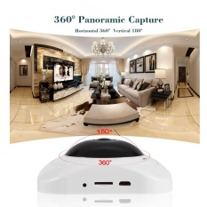 Sweatbuy 360 Degree Wireless Panoramic Camera Fisheye Smart Home Security CCTV VR (White) – intl