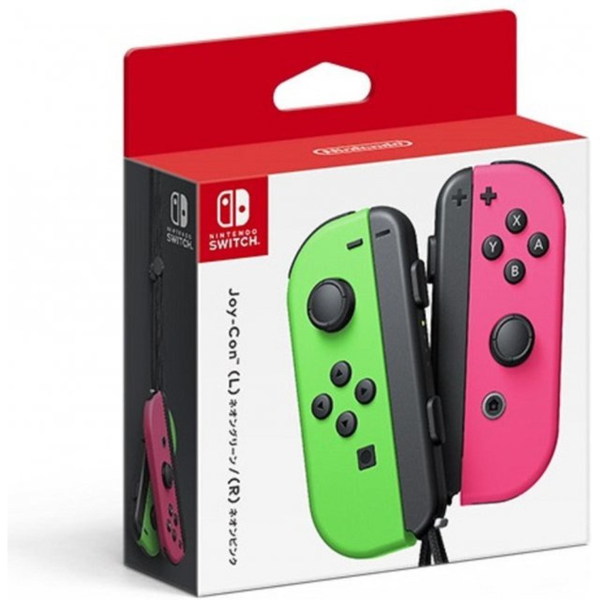 Switch Joy Con Neon Green/Pink