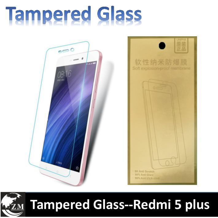 Tampered Glass For Redmi 5 plus