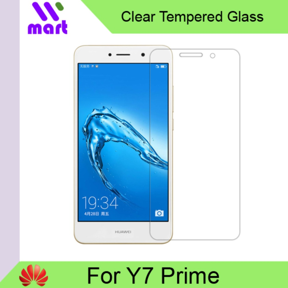 Tempered Glass Screen Protector (Clear) For Huawei Y7 Prime