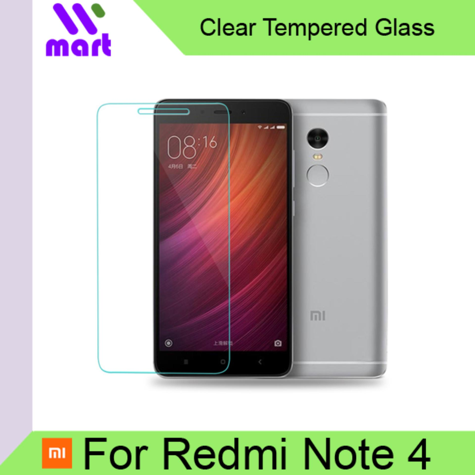 Tempered Glass Screen Protector (Clear) For Xiaomi Redmi Note 4