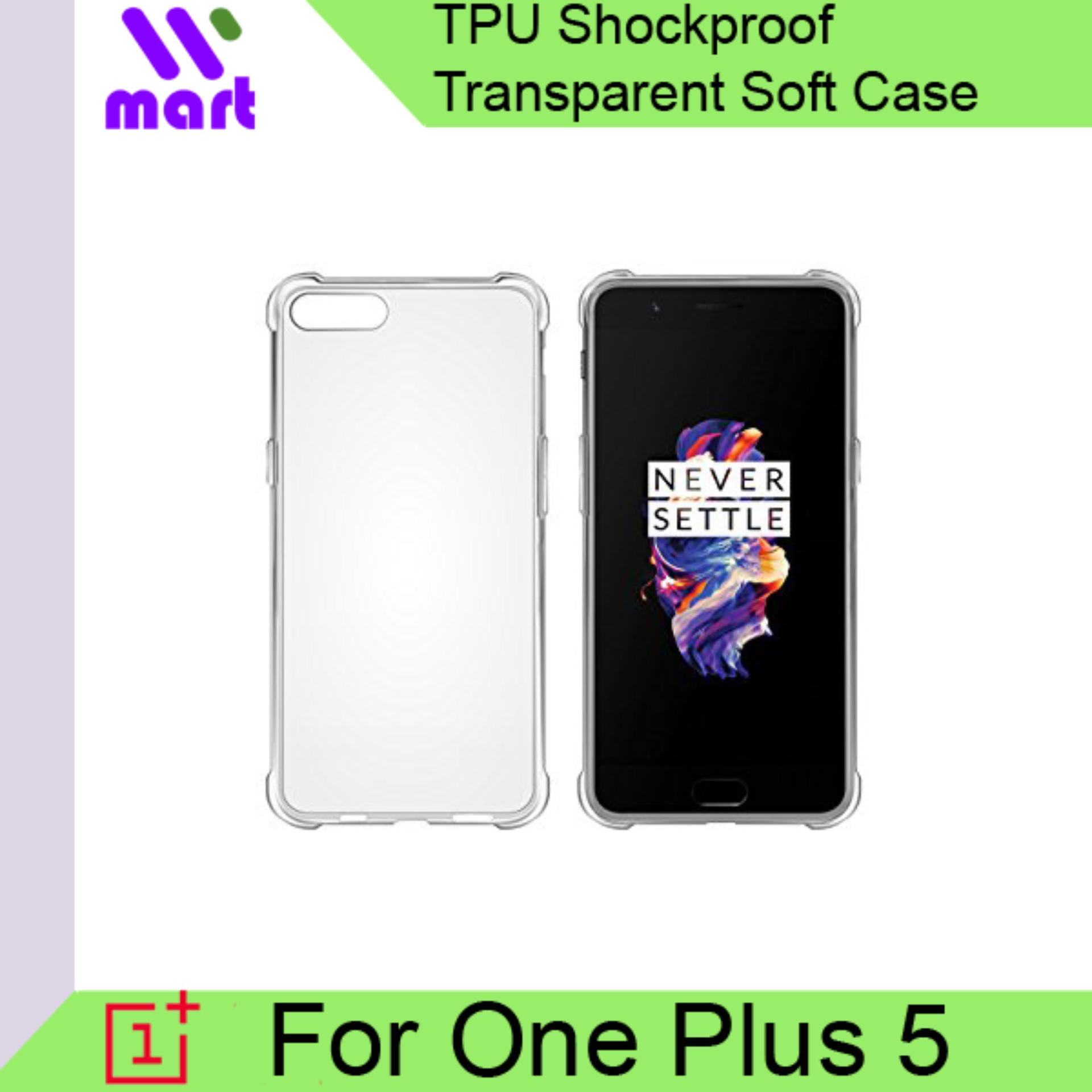 TPU Shockproof Transparent Soft Case For One Plus 5