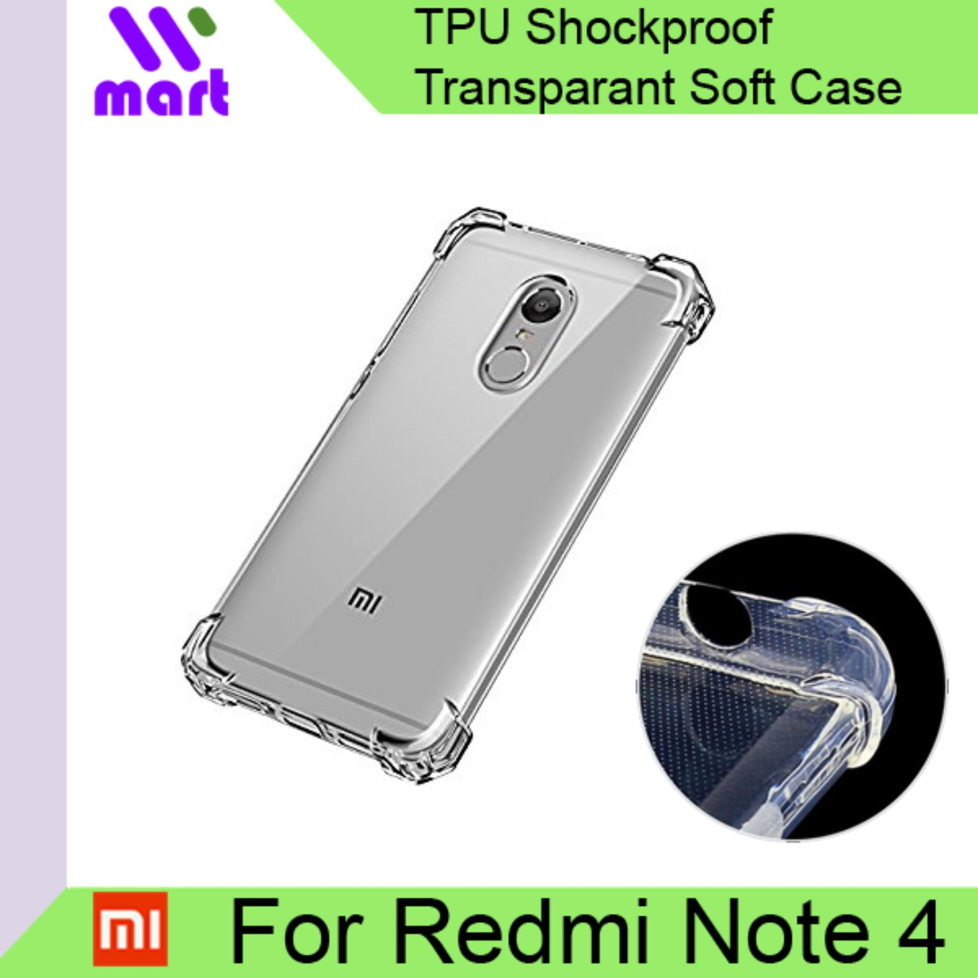 TPU Shockproof Transparent Soft Case For Xiaomi Redmi Note 4