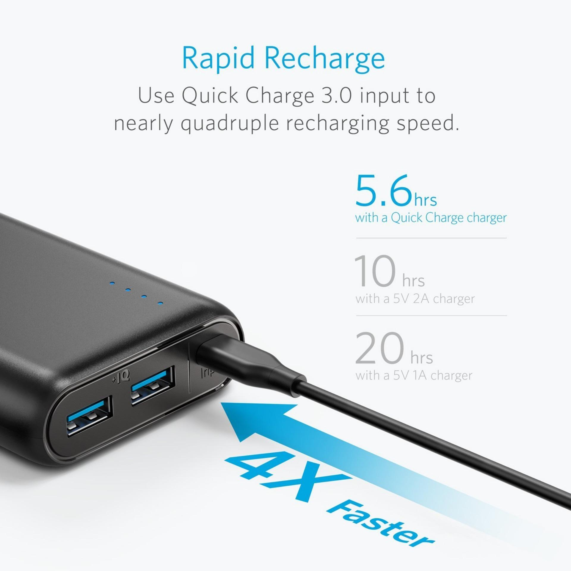 [Upgraded] Anker PowerCore Speed 20000mAh Quick Charge 3.0 Portable Powerbank