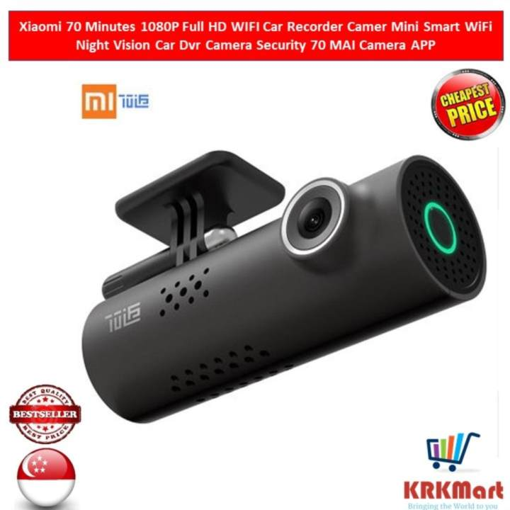 Xiaomi 70 Minutes 1080P Full HD WIFI Car Recorder Camer Mini Smart WiFi Night Vision Car Dvr Camera Security 70...