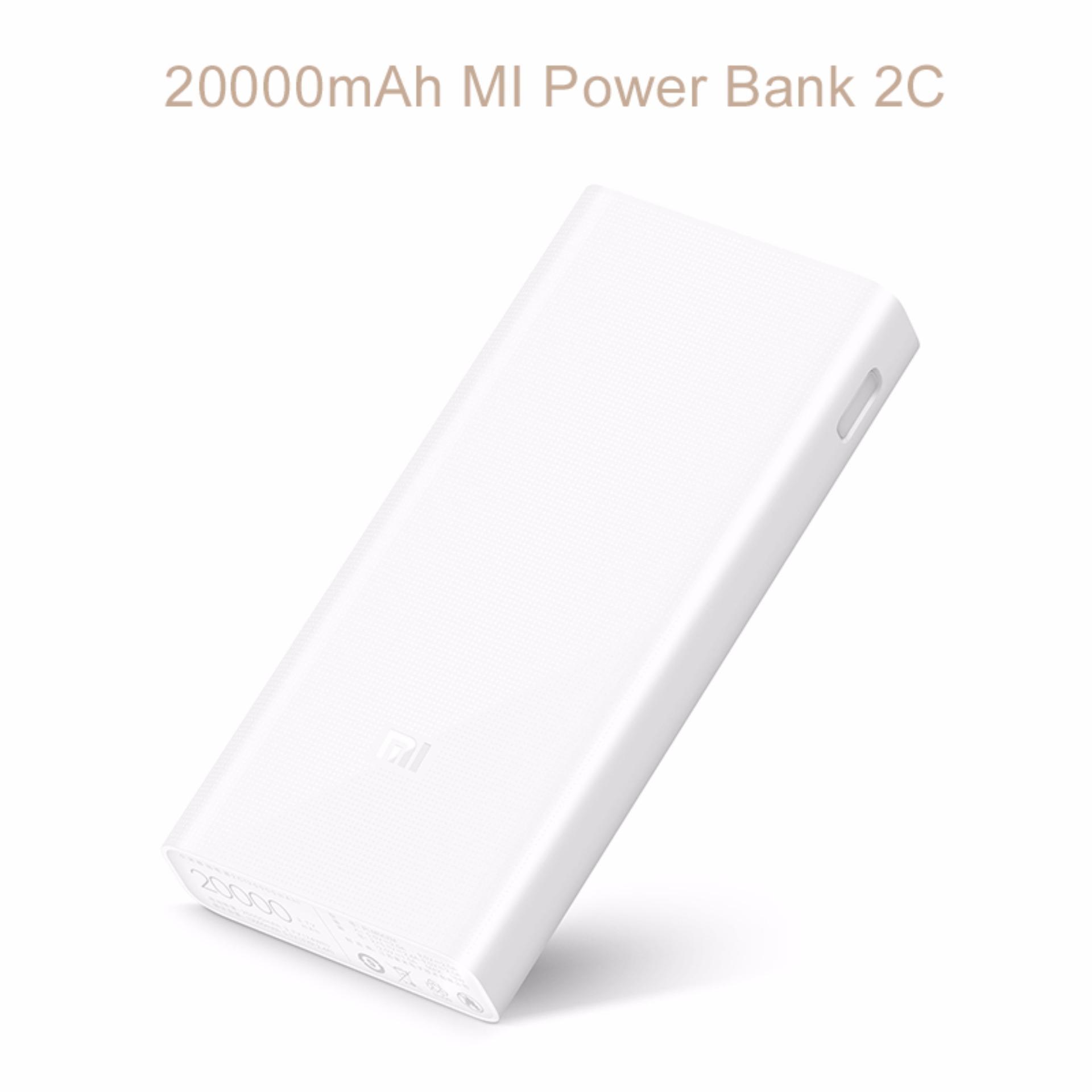 Xiaomi Mi Powerbank 20000mAh 2C QC 3.0 Portable Universal Power banks (White)