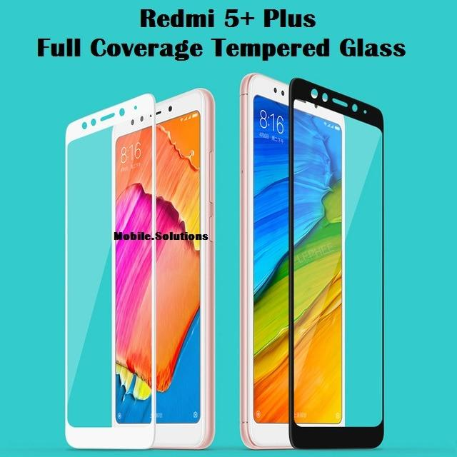 Xiaomi Redmi 5+ Plus Full Coverage Tempered Glass Screen Protector (White)