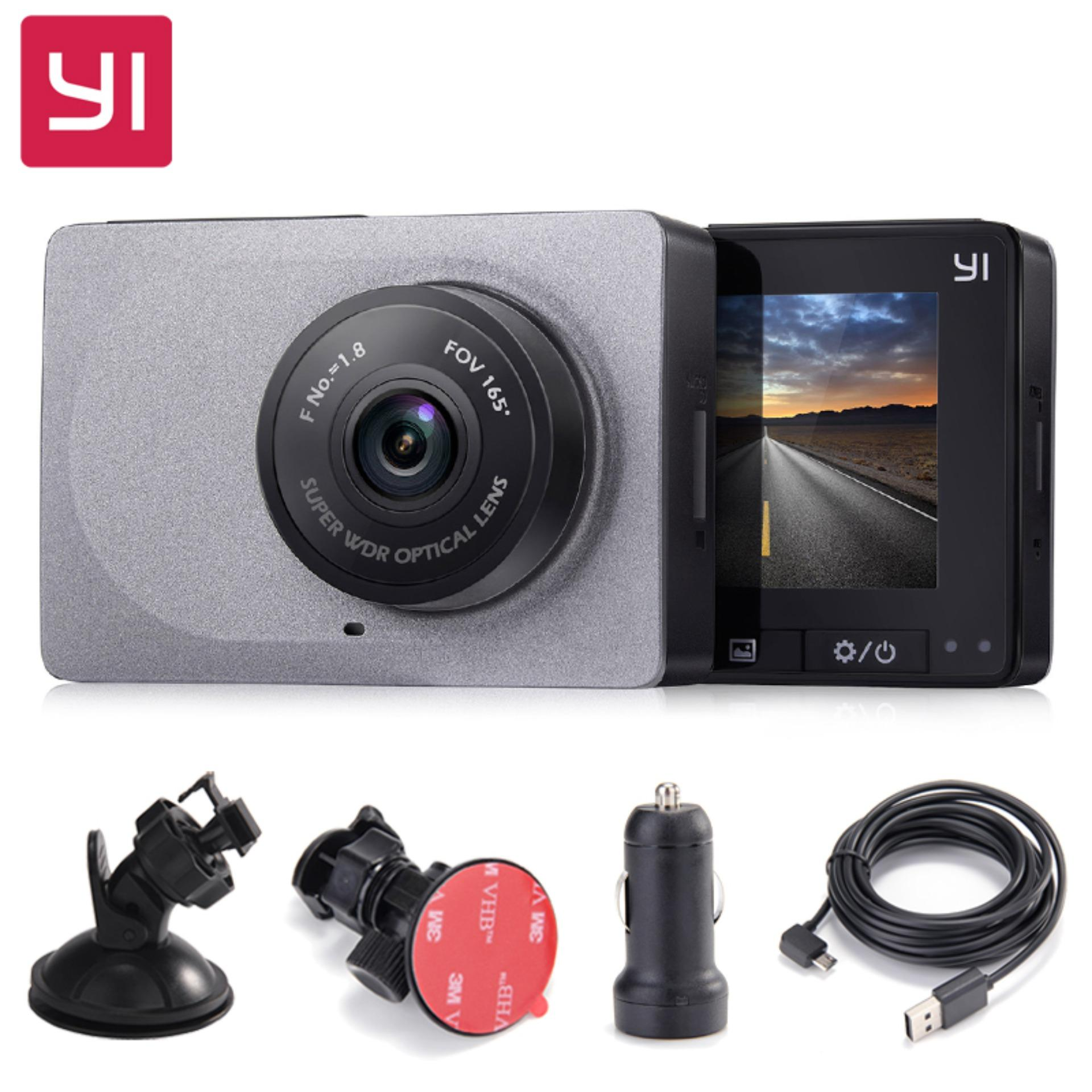 Xiaomi YI Smart Car DVR 165 Degree 1080P 60fps Car Detector 2.7″ Dash Camera ADAS Safe Reminder Dashcam