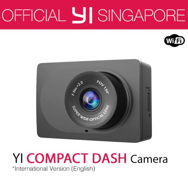 "YI Compact Dash Camera 1080p Full HD Car Dashboard Camera with 2.7"" LCD Screen, 130° WDR Lens, G-Sensor, Night Vision, Loop Recording"